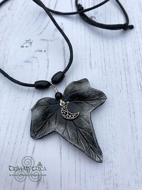 SELENE - Silver Ivy  Leaf Necklace