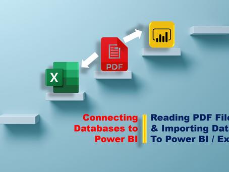 Importing PDF Data to Power BI / Excel