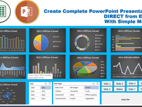 How to Create A Complete PowerPoint Deck - Direct from Excel Dashboard with Few Buttons (Macros)
