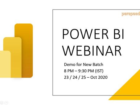 Power BI Demo Webinar
