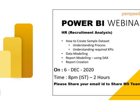 Power BI Webinar - HR Analytics