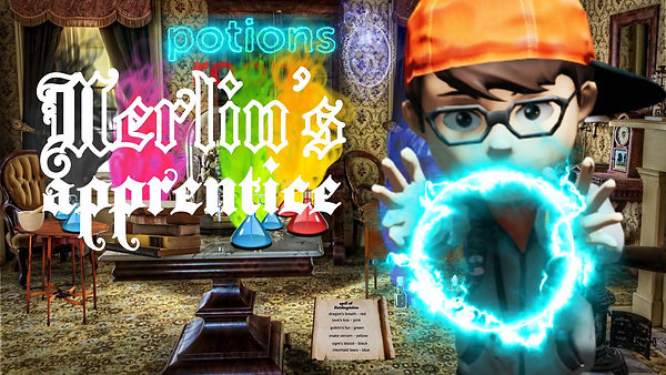Merlin's Apprentice. Online Escape Room for kids and families.
