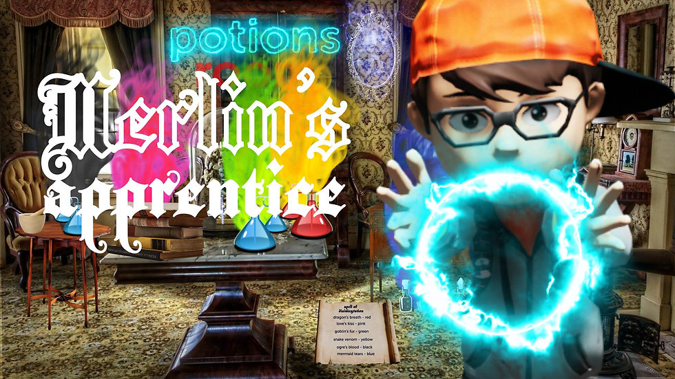 Merlin's Apprentice. For kids and families.
