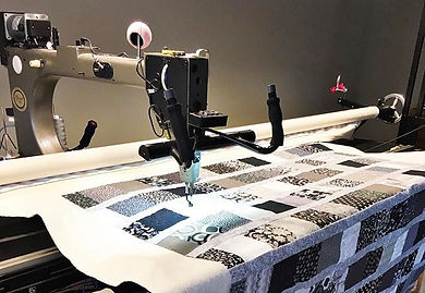 Don't you love a black and white quilt_
