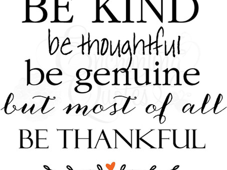 Be Thankful always!