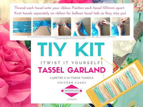 NEW DIY Tissue paper tassel Kits Unicorn Candy