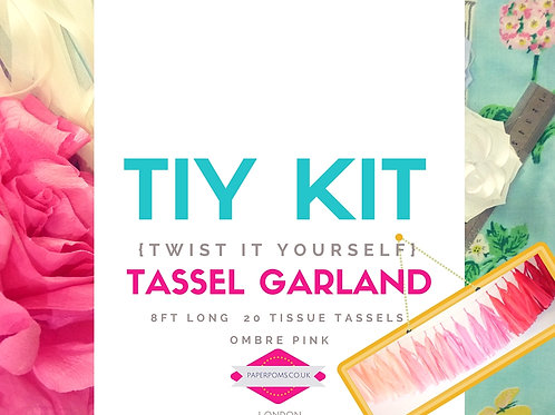 NEW DIY Tissue Tassel Kits Ombre Pink