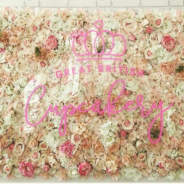 Great British Cupcakery flower walls
