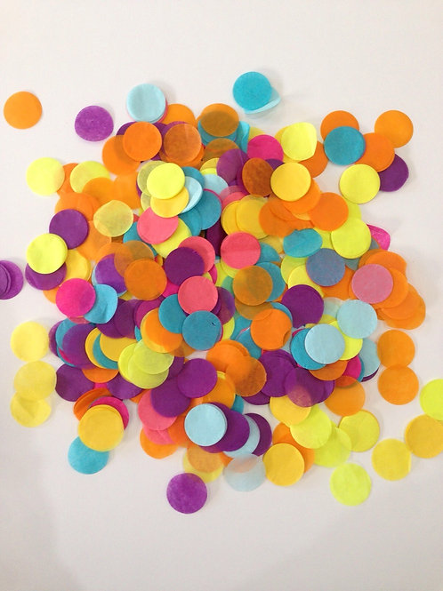 Bespoke colour confetti 10gram bag 30mm & 40mm dia