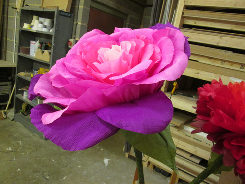 Super giant crepe paper rose 6ft stem mightylinksfo