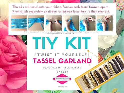 NEW DIY Tissue paper tassel Kits Gatsby
