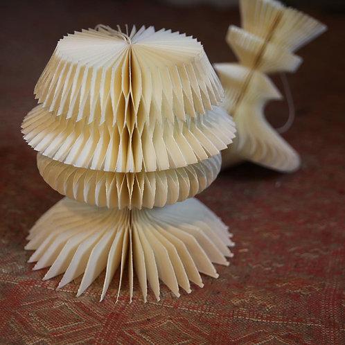 2 x plain paper honeycomb  23cm
