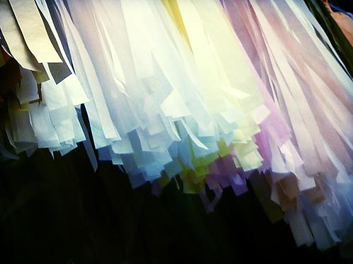 Tissue paper tassel garland 1.2m