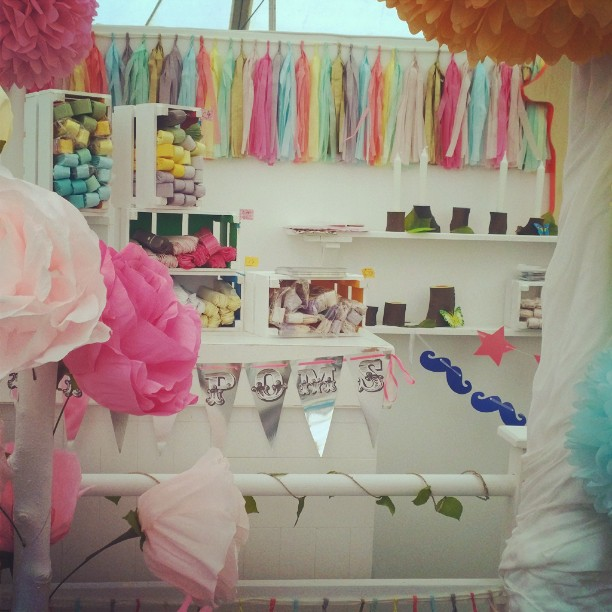 Instagram - Our beautiful stand made by SetBox Events for #handmadefair