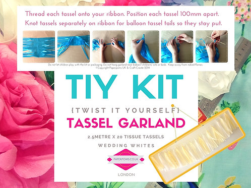 NEW DIY Tissue Tassel Kits Wedding Whites