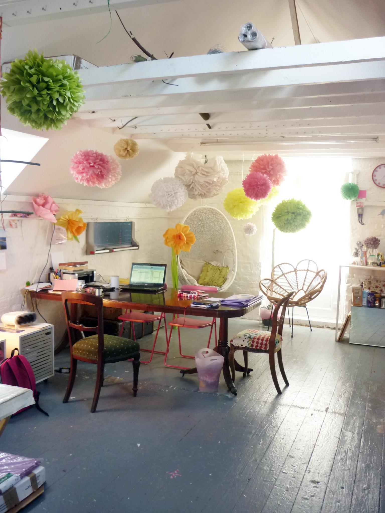paperpoms uk studio space