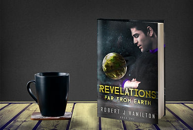 Science Fiction Book Revelations with coffee