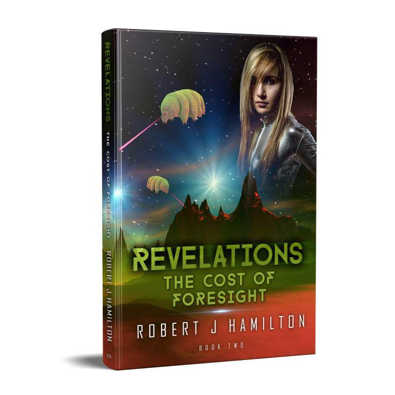 Revelations - The Cost of Foresight book cover. Tardigrades attack!