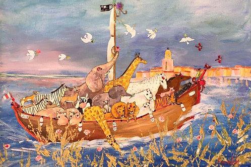 Arche 5,Protection des Mers et Océans passant à St Tropez..