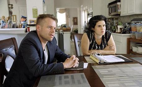 Joshua Zema and Rachel Mills in Killer Legends