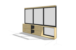 Custom Operable Glass & Storage Wall