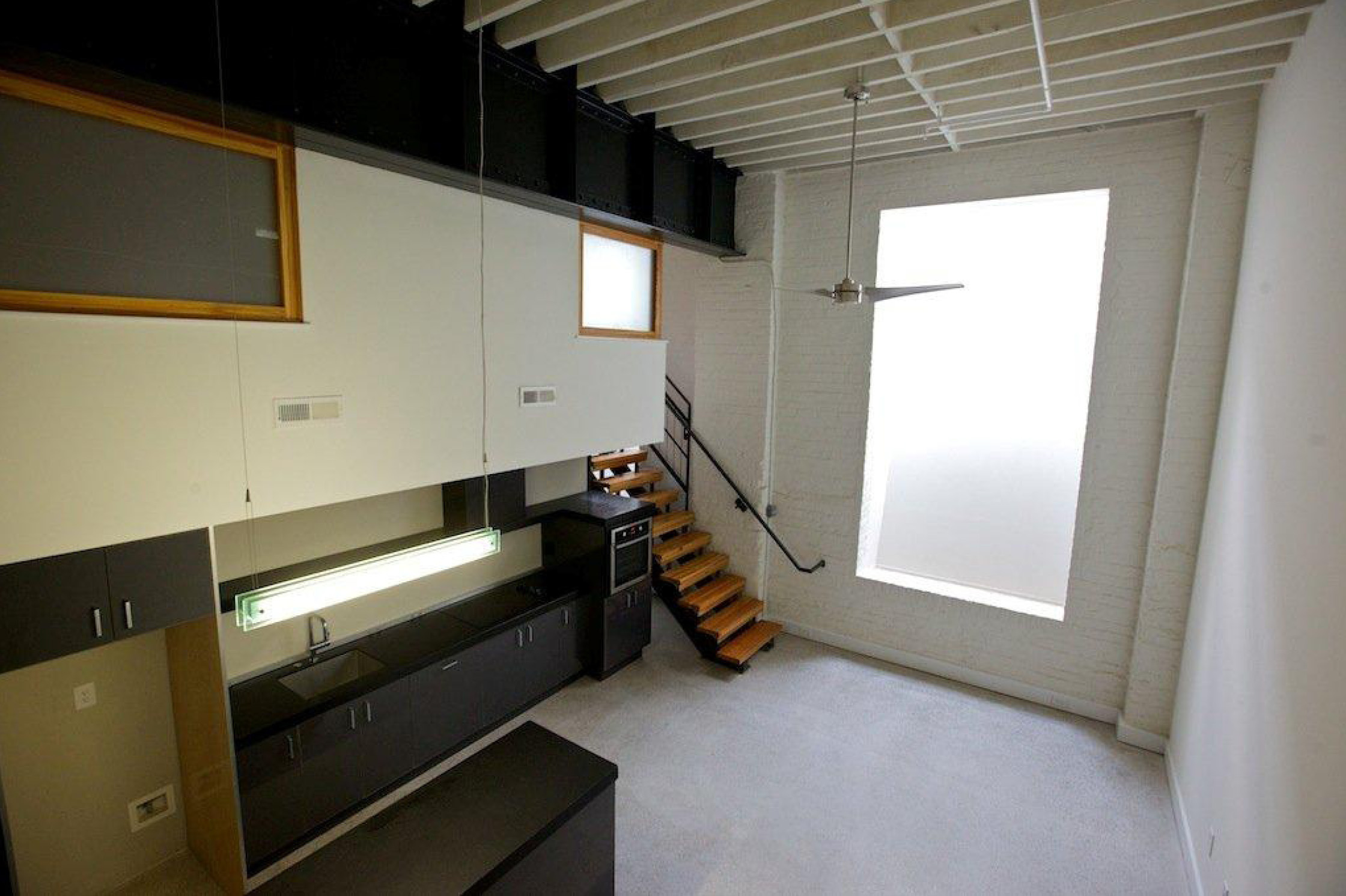 Lower Level Loft Unit with Light Well