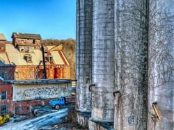 Existing Exterior Grain Silos