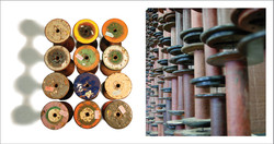 Textile Spools as dividing screens