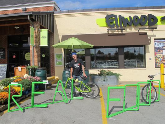 "Bike Rack ""Real Food"""