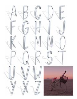 3D Bike Rack Alphabet