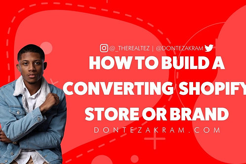 How to Build a Converting Shopify Store