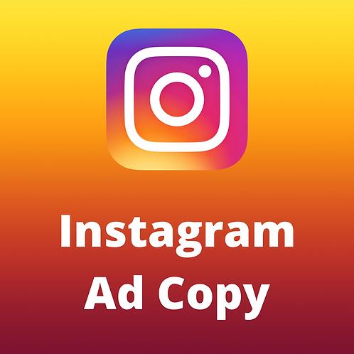 Instagram Ad Copy (1 Ad)