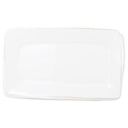 Melamine Lastra Rectangular White Platter