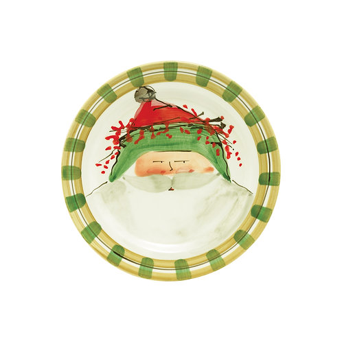 Old St. Nick Assorted Round Salad Plate - Green Hat