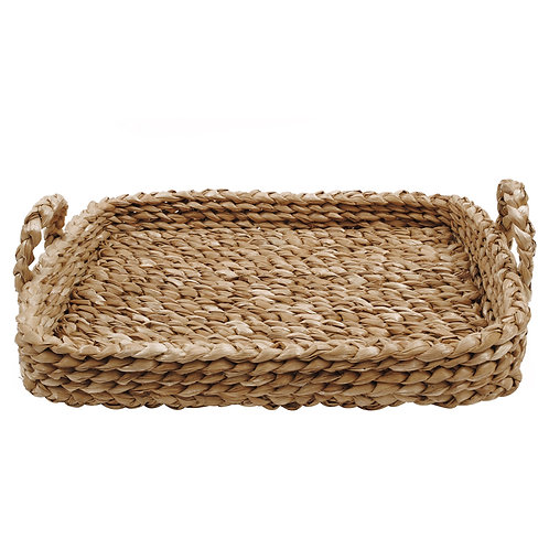 Rectangular Braided Tray with Handles