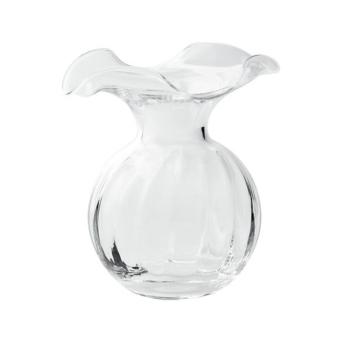 Hibiscus Small Fluted Vase - Clear