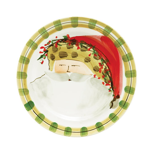 Old St. Nick Dinner Plate - Animal Hat