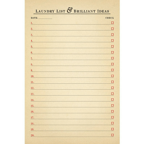 Laundry List Check Pad