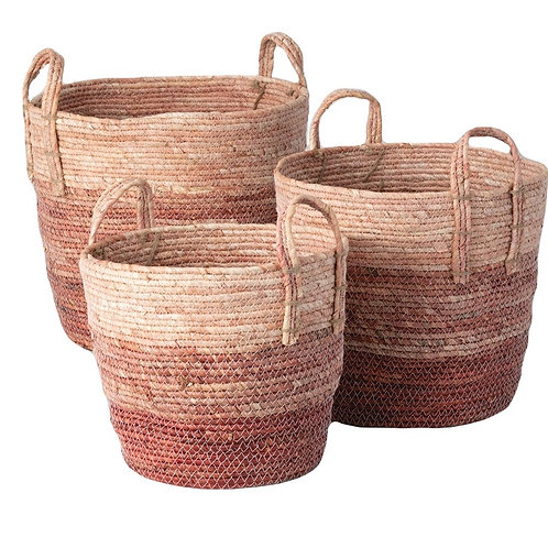 Pastel Baskets - Set of 3