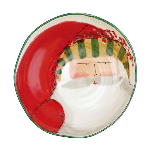 Old St. Nick Assorted Pasta Bowl - Striped Hat