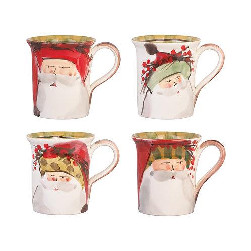 Old St. Nick Assorted Mugs - Set of 4