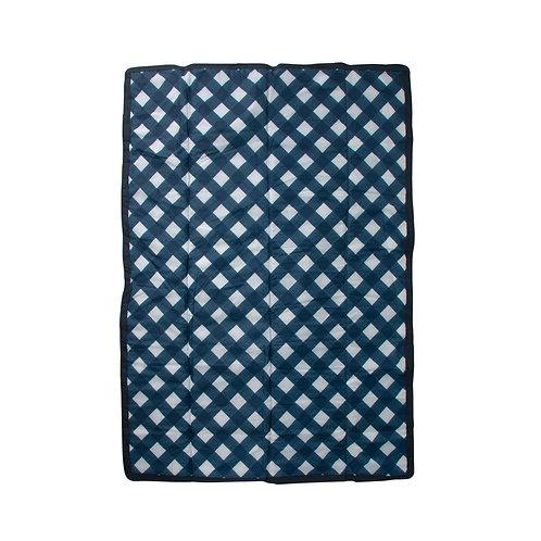 Little Unicorn - 5x7 Outdoor Blanket - Navy Plaid