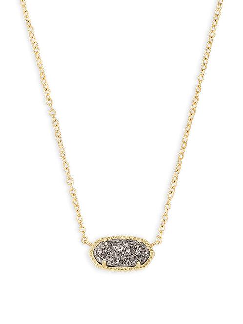 Elisa Necklace Gold Platinum Drusy