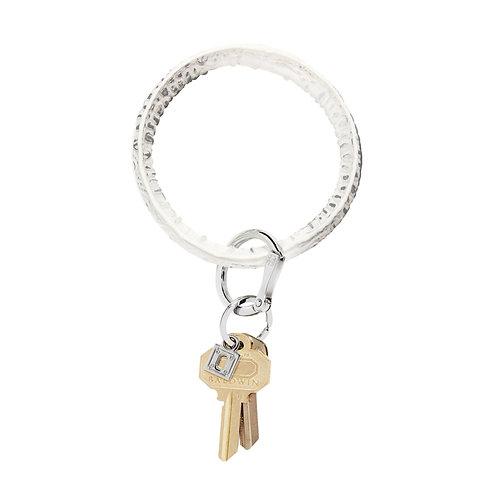 Big O Key Ring - Goldrush Croc - Leather