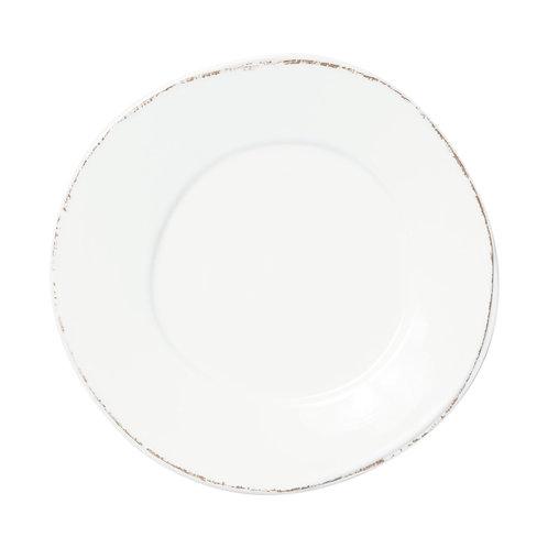 Melamine Lastra White Dinner Plate