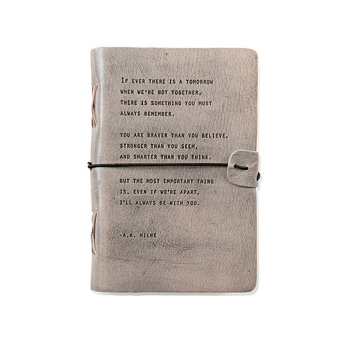 If Ever There is a Tomorrow - Grey Leather Journal