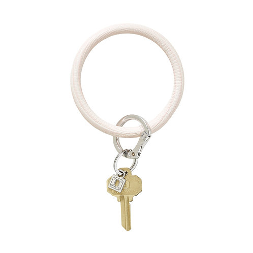 Big O Key Ring - Rose Quartz Lizard - Leather
