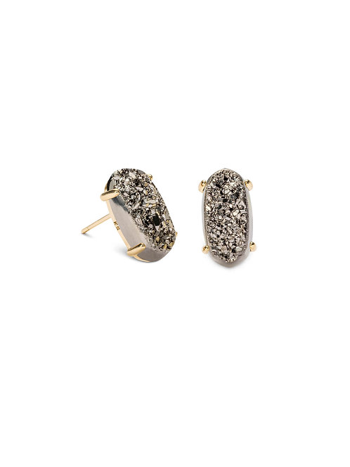 BETTY EARRING GOLD PLATINUM DRUSY