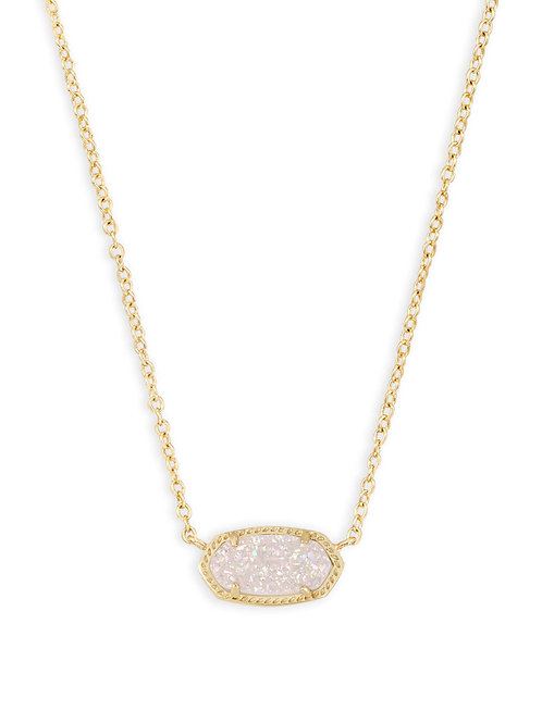 Elisa Necklace Gold Iridscnt Drusy