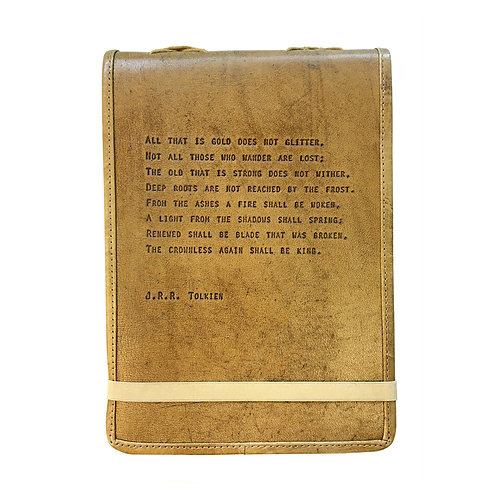 All That is Gold - Leather Journal